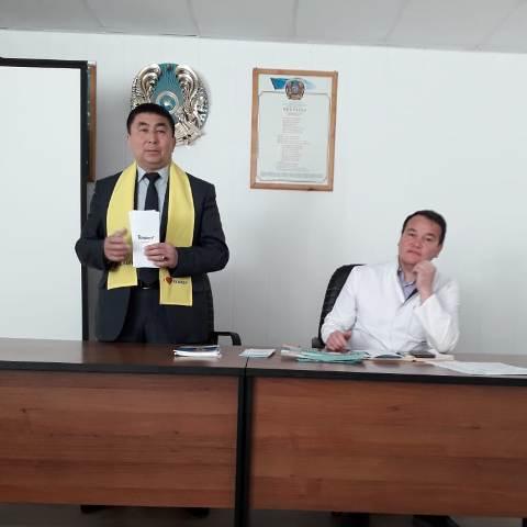 В Шортандинской РБ прошла встреча, посвященная кандидату в Президенты РК от партии