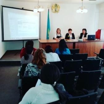 """Встреча филиала АО """"Государственный фонд социального страхования"""" с  коллективом больницы и женщинами, вставшими на учет по беременности"""