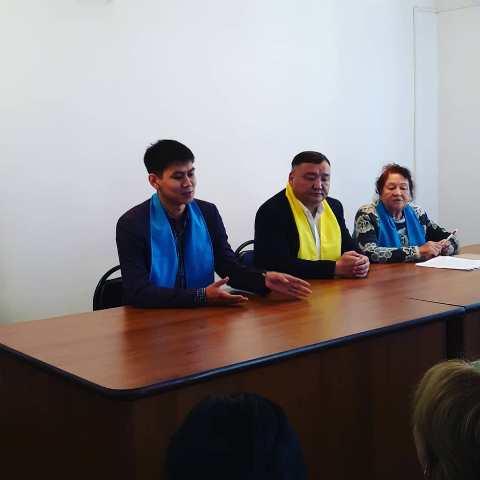 Встреча медработников с представителями предвыборной компании Кандидата в Президенты РК Касым-Жомарта Токаева