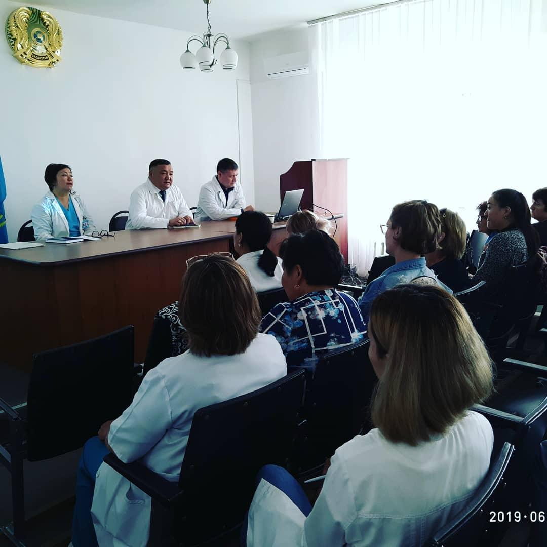 В больнице района Тереңкөл прошел медсовет