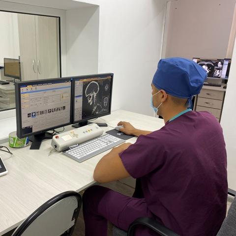 Начал свою работу кабинет компьютерной томографии, расположенный в «Областной офтальмологической больнице» по адресу ул.Курманбекова № 2, около поликлиники №5