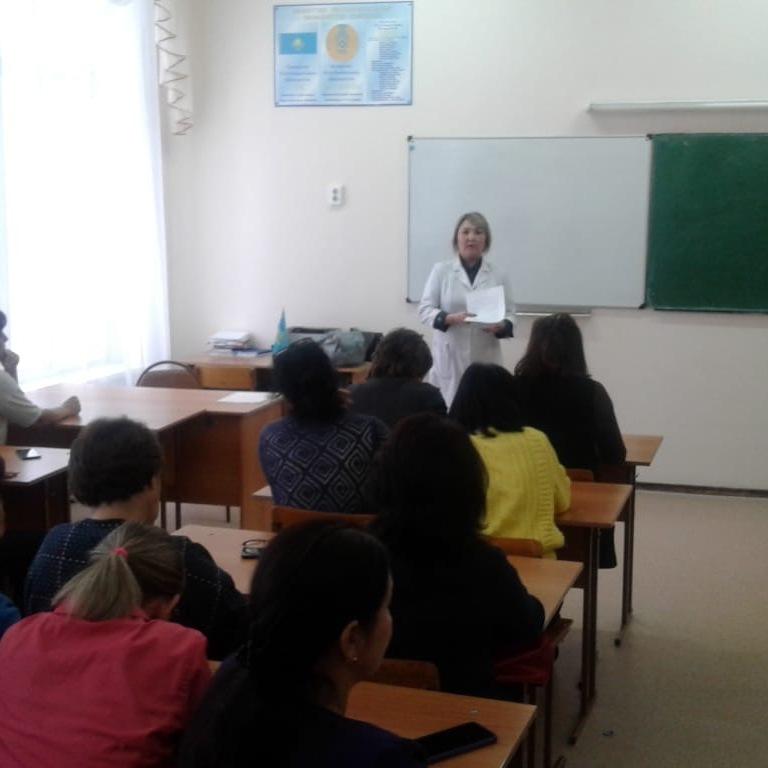 Работа по разъяснению ОСМС в средней школе №21 г. Нур-Султан