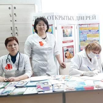 День открытых дверей в рамках Всемирной кампании борьбы со СПИД в поликлинике №2 г. Нур-Султан